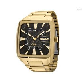 Relógio Mormaii Dourado Quadrado Extra Grande Mo2315am/3p