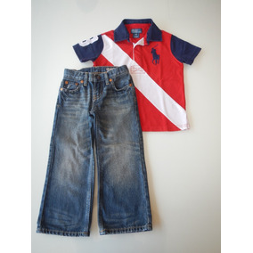 030fa2536718b Conjunto Infantil Polo Ralph Lauren 3 Anos Camisa Menino 3t