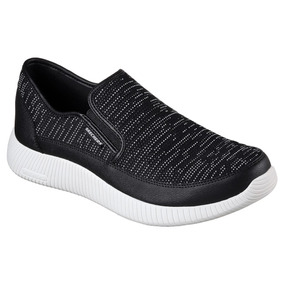 Skechers Zapatilla Casual Hombre Depth Charge Negro Blanco