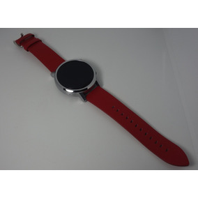 Relogio 2nd Gen Moto 360 46mm Smartwatch Pulseira Couro Red