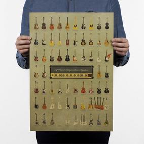 Poster Quadro Cartaz Retro Vintange Guitarras