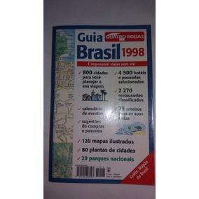 Livro Guia Quatro Rodas Brasil (1998) Em Excelente Estado.