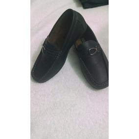 Zapatos Colegiales Tipo Mocasin Para Niño, Talla 32
