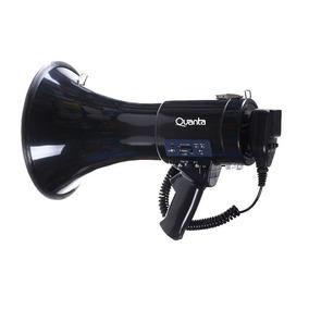 Megafone Quanta - 250w - Micro-sd - Usb - Recarregavel Black