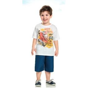 Conjunto Infantil Menino Camiseta E Bermuda Kaiani