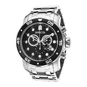 ee00e321484 Relógio Invicta Pro Diver Em Aço Com Fundo Preto Ref 0069 - Relógios ...