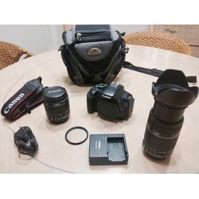 Camera Canon T3i D600 2 Lentes 18-55 E 55-250 Kit Completo