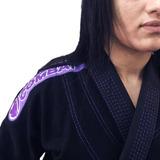 Kimono Jiu-jitsu Brazil Combat Elite Preto / Roxo Feminino