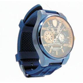 c89b3534aba Rel Gio Scuderia Ferrari Masculino Borracha Azul 830297 - Relógios ...