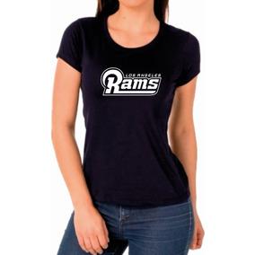 Camiseta Baby Look Preta Los Angeles Rams Futebol Americano 0ce261ab322fe