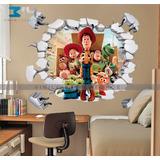 Vinilo Decorativo 3d Toy Story Calcomanía Muro Roto Sticker