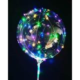 6 Balão De Led Com Vareta Haste Com Pilha P/ Revenda Festas