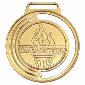 Kit 250 Medalhas Honra Ao Mérito 40mm C/ Fita Futebol