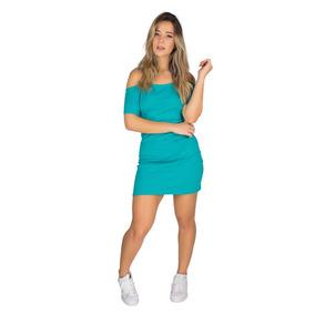 Vestido Curto Feminino Ombro A Ombro Canelado Roupa 9501