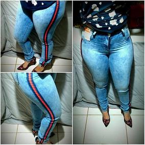 Kit Roupas Feminina 2 Calça Jeans Moda Cintura Alta
