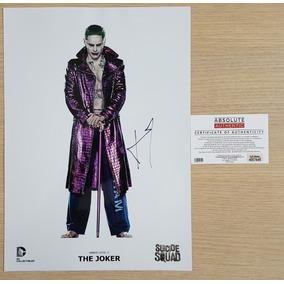 Esquadrão Suicida Coringa - Poster Autografado - Jared Leto