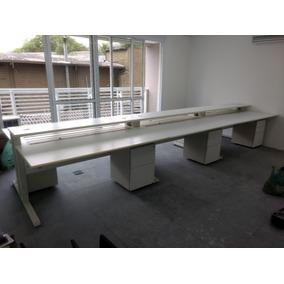 Estação Trabalho Riccó - Mesa De Escritório 2 Posições