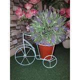 Maceteros Bicicletas Decoración Jardín Metal 25 Cm.