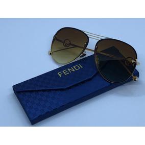 005b23856e6c6 Maravilhoso Oculos Fendi Dourado..lindo - Óculos no Mercado Livre Brasil
