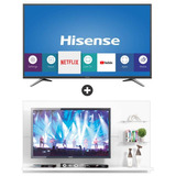 Smart Tv 43 Hisense Hle4317rtf + Panel Tv Zanzini Blanco