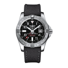 ddfd1a5d975 Relogio Breitling Avenger Ii Gmt Black Dial Grey Fabric Stra