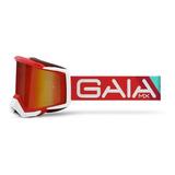 Óculos Gaia Mx Motocross Trilha Red Vulcan Anti-embaçante
