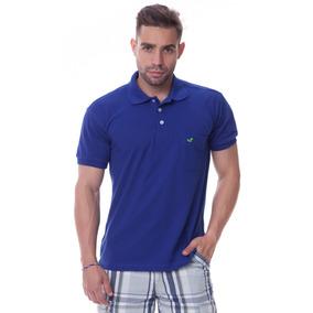 Camisa Camiseta Polo C  Bolso Na Cor Azul Sapocaco 4d2a073a46293