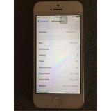 Iphone 5 16gb Plata Telcel Caja Usb Cubo Excelente