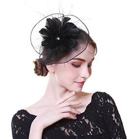 Awaytr Mujer Tocado Moda Sinamay Derby Sombrero De Iglesia F 4b4b0aea1dc