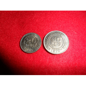 Moedas De 20 E 50 Réis 1919 Cúpro-níquel Fc
