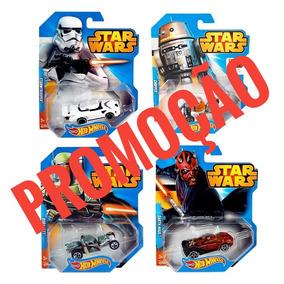 Kit 4 Carros Star Wars Hot Wheels - Mattel