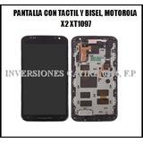 Pantalla Con Tactil Y Bisel Motorola X2 Xt1097