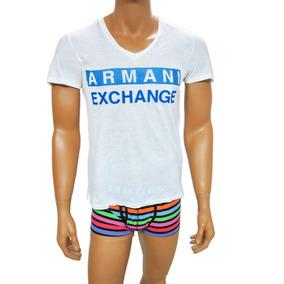 Playera A | X Armani Exchange V Neck Logo Seminueva Talla M