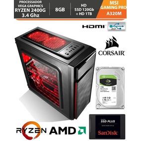 Pc Gamer Ryzen 5 2400g 3.4ghz Vega 11 8gb Ssd 120gb Hd 1tb