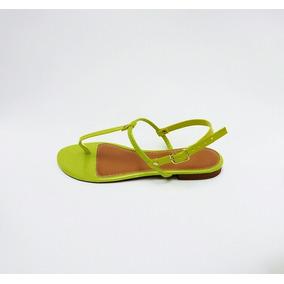 Sandália Rasteira Neon Kit 3 Pares Variados