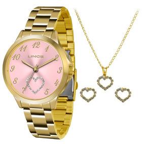 20143db062e Lindo Relógio Feminino Visor Rosa Lince - Relógios De Pulso no ...