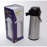 Garrafa Térmica Lider De 1,9l Inox Pressão Para Café Ou Chá