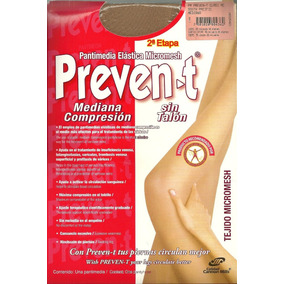 Pantimedia Elastica Prevent Mediana Compresion Varices 2 Pac