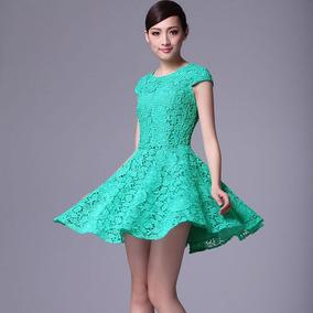 Vestidos De Color Verde Agua Cortos Nueva Moda Mundial 2019