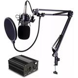 Microfone Condensador Profissional Bm700 + Phantom Power A7