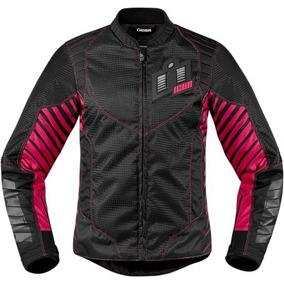 eeeb09cb3f9 Chamarra Moto Deportiva Nylon Para Dama Icon Wireform Rosa