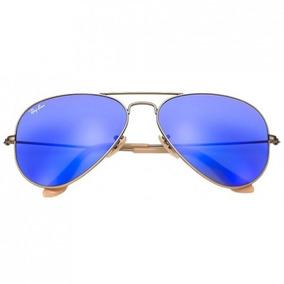 3064e4eb0ed07 Oculos Ray Ban Aviator 3025 Azul Espelhado - Óculos De Sol Ray-Ban ...