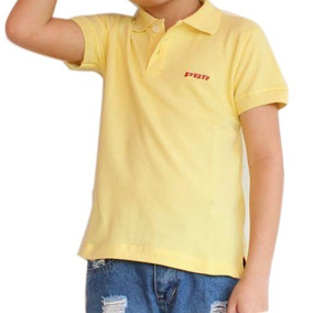 Camiseta Gola Polo Infantil Manga Curta Classic Pbr 2bc77726ec2