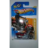 Hot Wheels Moto Harley Davidson Fatboy 1/64 2012 Carro Auto