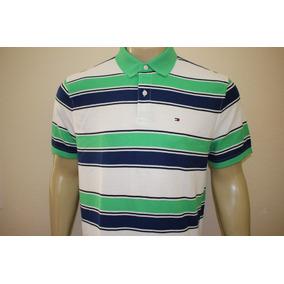 a349169351 Camiseta Masculina Tommy Hilfiger Gola Polo Listrado