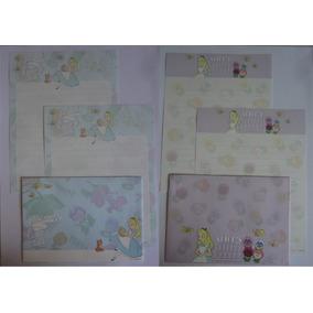 Conjuntos Papel De Carta Alice Importado Disney Lote 169