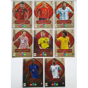 Lote Set 8 Cards Xl Adrenalyn Premium Copa 2018 Limiteds