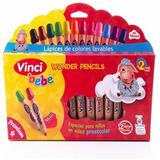 Colores Lavables Para Bebés Niños Vinci Bebé 12 Piezas
