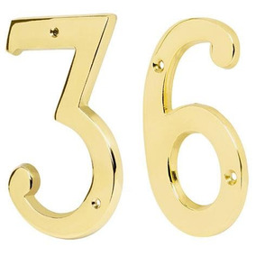 Numero Laton Solido 4 Numero 7 Hermex 43685