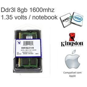 Memória Kingston Notebook Ddr3l 8gb 1.35v Low Voltage